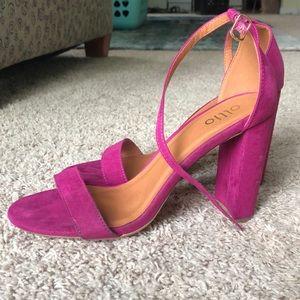 Purple Pink heels. Ollio brand. Size 10